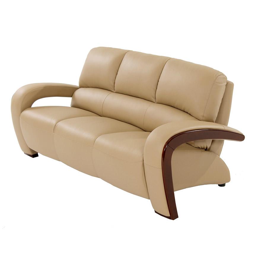 Monchello Ivory Leather Sofa Main Image, 1 Of 6 Images.