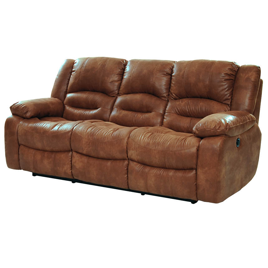 Wonderful Wrangler Tan Recliner Sofa Main Image, 1 Of 6 Images.