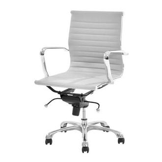 Watson White Low Back Desk Chair