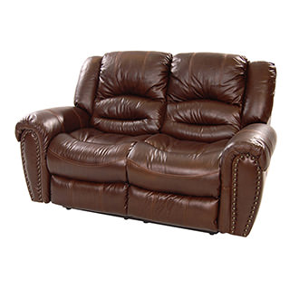 Dellis Recliner Leather Loveseat