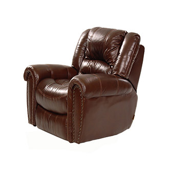 Dellis Leather Swivel Glider Recliner