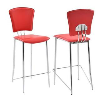 New Tracy Red Counter Stool