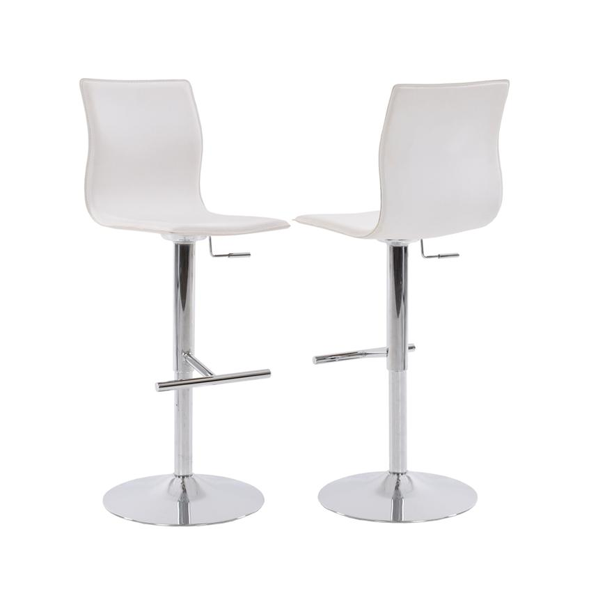 Evolution White Adjustable Stool  main image, 1 of 7 images.