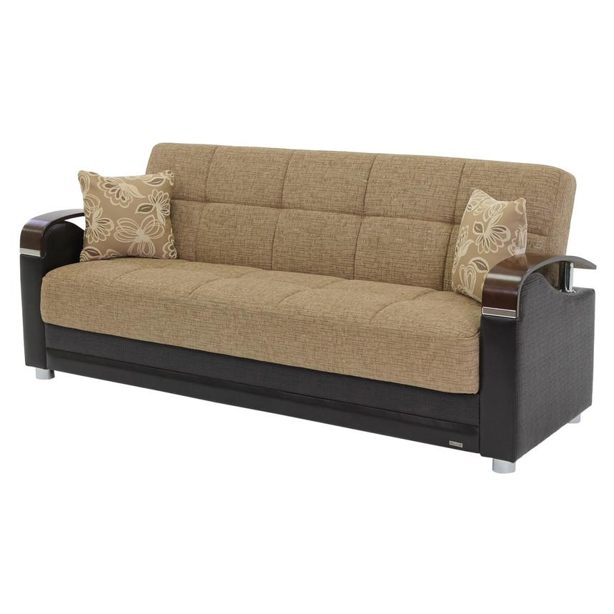 Peron Tan Futon Sofa El Dorado Furniture