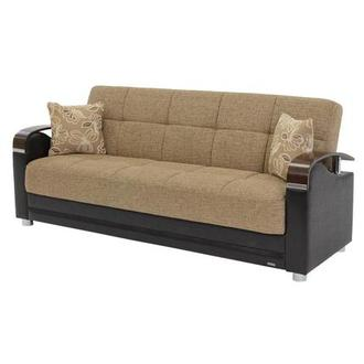 Peron Tan Futon Sofa