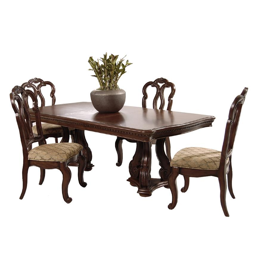 Attirant San Marino 5 Piece Formal Dining Set Main Image, 1 Of 11 Images.