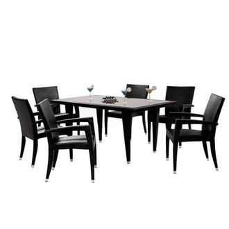 Neilina Black 7-Piece Patio Set