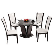Daisy White 5-Piece Casual Dining Set  main image, 1 of 10 images.