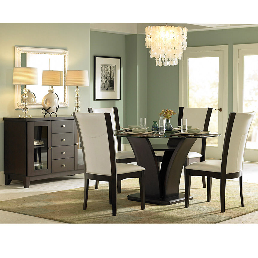 Daisy White 5-Piece Casual Dining Set  alternate image, 10 of 11 images.