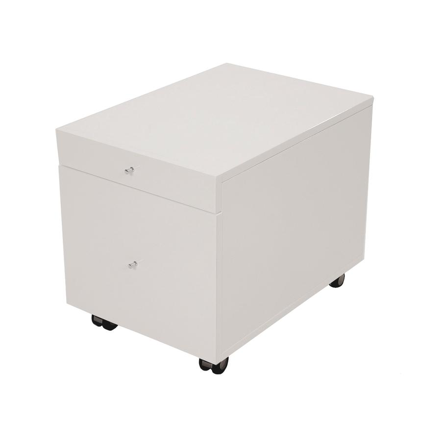 Vitra White Rolling File Cabinet  main image, 1 of 7 images.