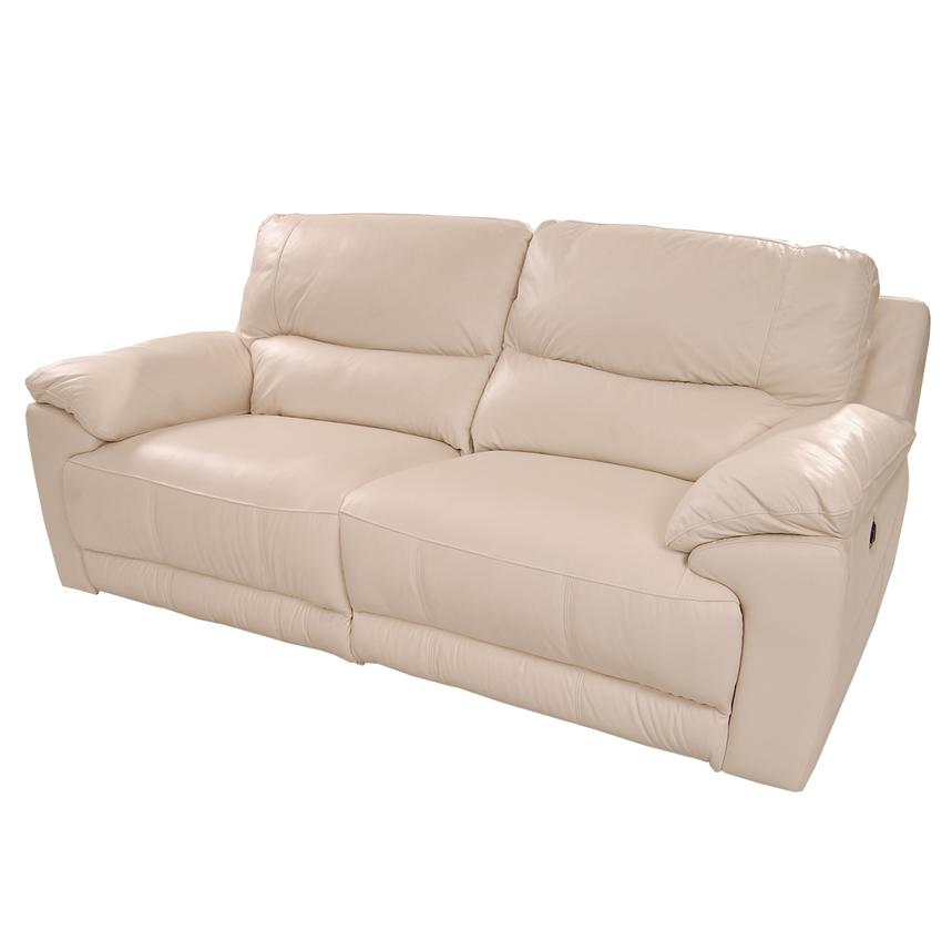 Macklein Cream Power Motion Leather Sofa  main image, 1 of 10 images.