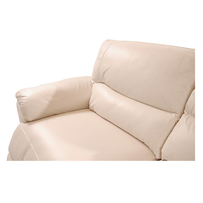 Macklein Cream Power Motion Leather Sofa  alternate image, 6 of 10 images.