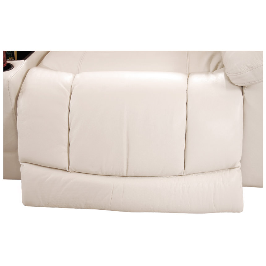 Sheree White Power Motion Leather Sofa w/Right & Left Recliners  alternate image, 5 of 7 images.