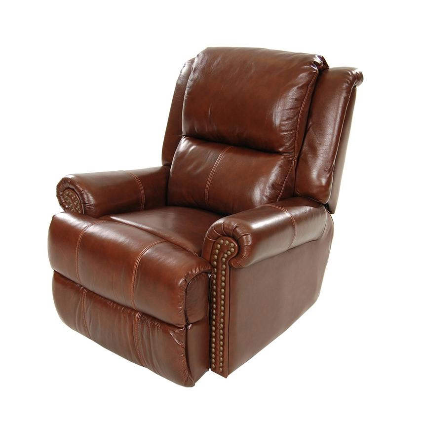 Mount Brown Power Motion Leather Recliner  main image, 1 of 8 images.