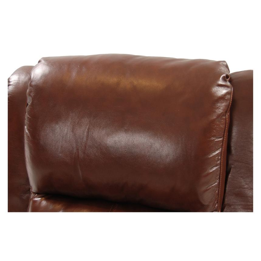 Mount Brown Power Motion Leather Recliner  alternate image, 6 of 8 images.