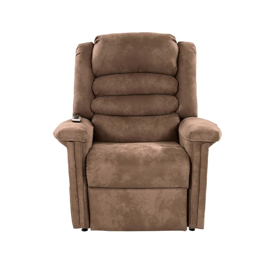 Soother Light Brown Power-Lift Recliner by Catnapper  alternate image, 5 of 9 images.