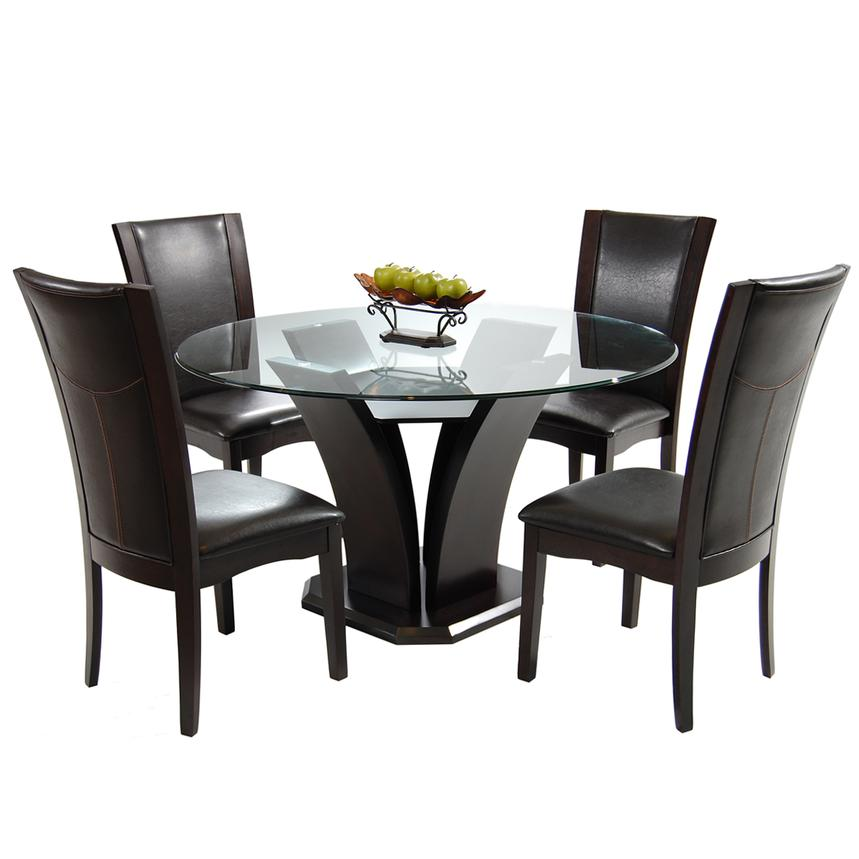 Daisy Brown 5 Piece Casual Dining Set Main Image, 1 Of 9 Images.