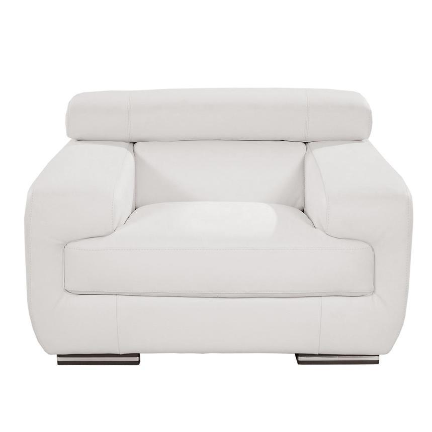 grace white leather chair el dorado furniture