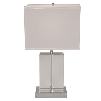 Clear Cut Table Lamp