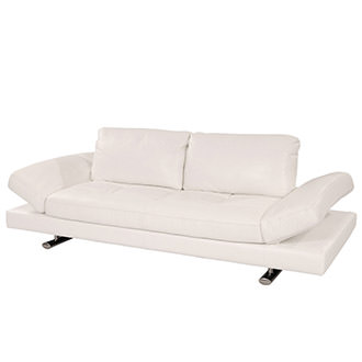 Gertrudes White Leather Sofa