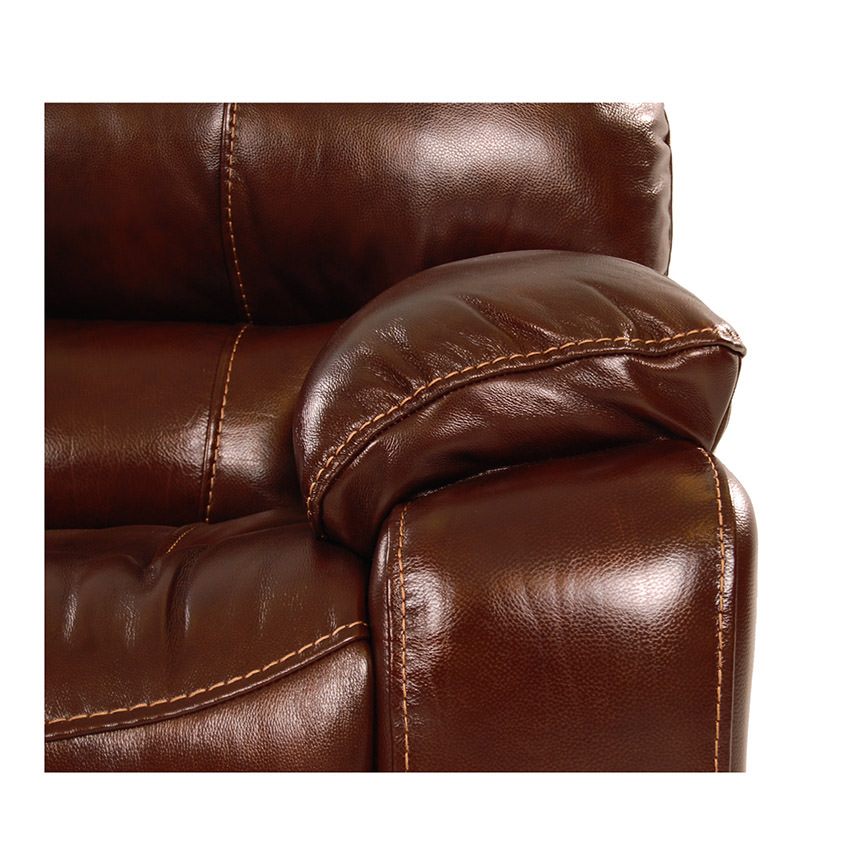 Hudson Power Motion Leather Loveseat  alternate image, 6 of 9 images.
