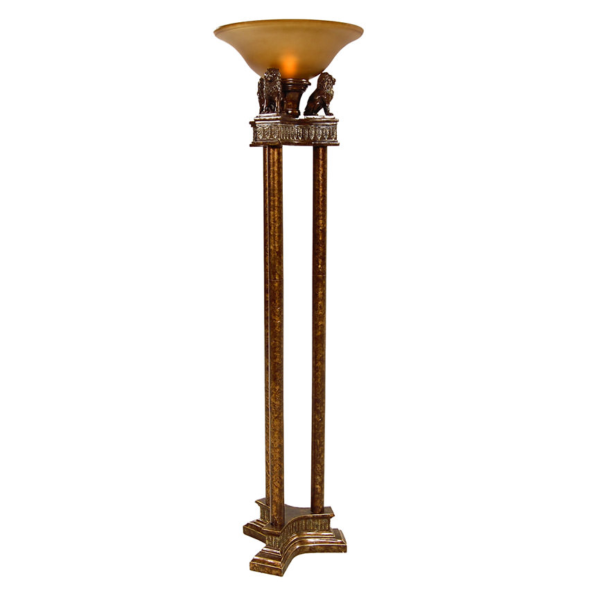 Lions torchiere floor lamp main image 1 of 4 images