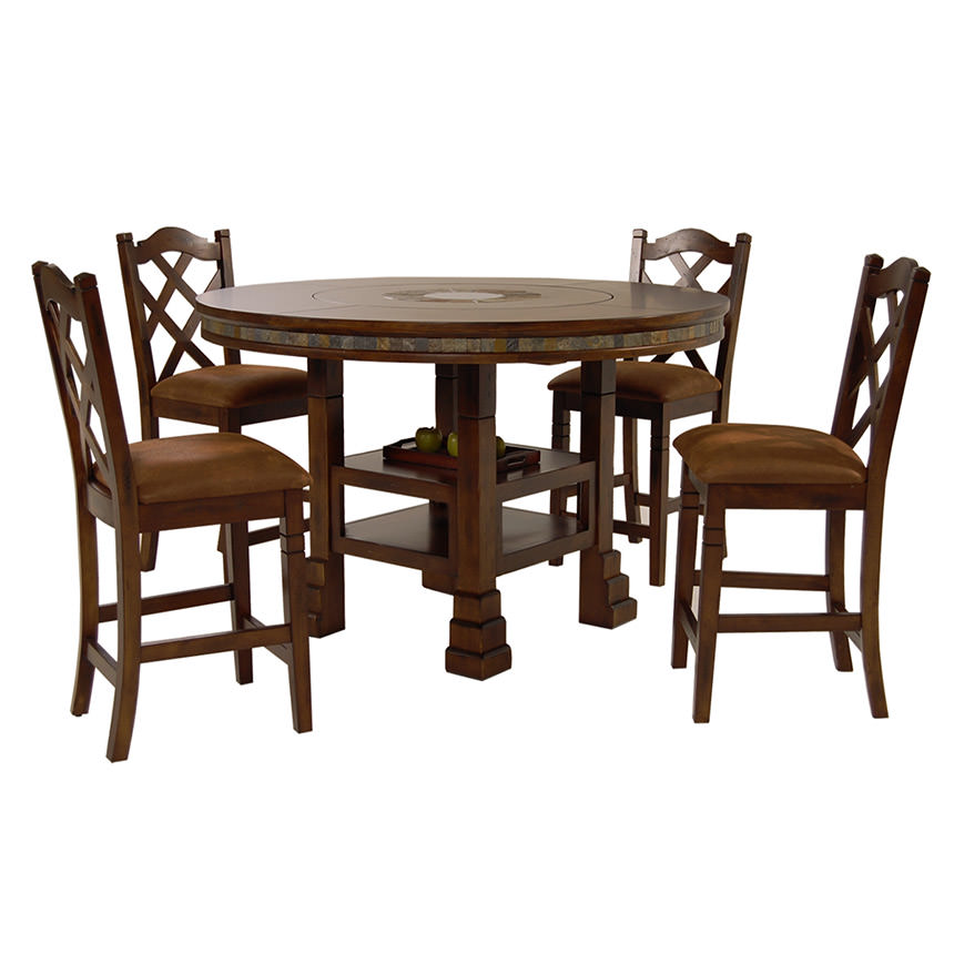 Superbe Santa Fe 5 Piece High Dining Set Main Image, 1 Of 13 Images.