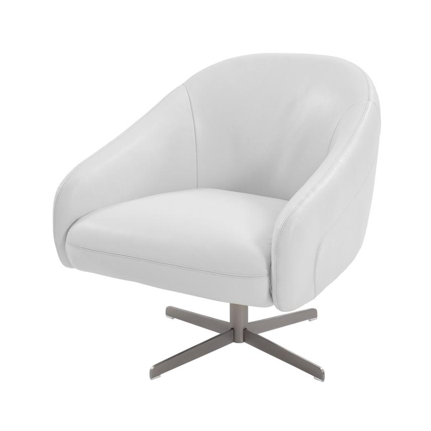 Brookville White Leather Swivel Chair El Dorado Furniture