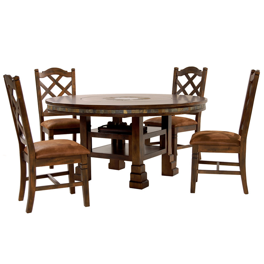 Santa Fe 5 Piece Casual Dining Set Main Image, 1 Of 17 Images.