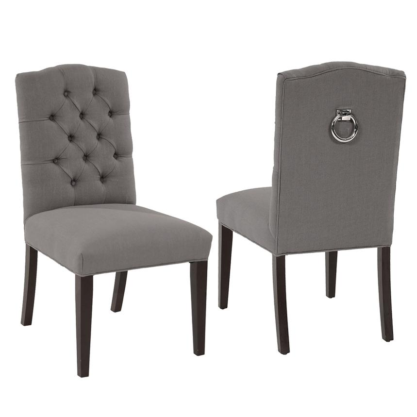 Elegant Hudson Gray Side Chair Main Image, 1 Of 6 Images.