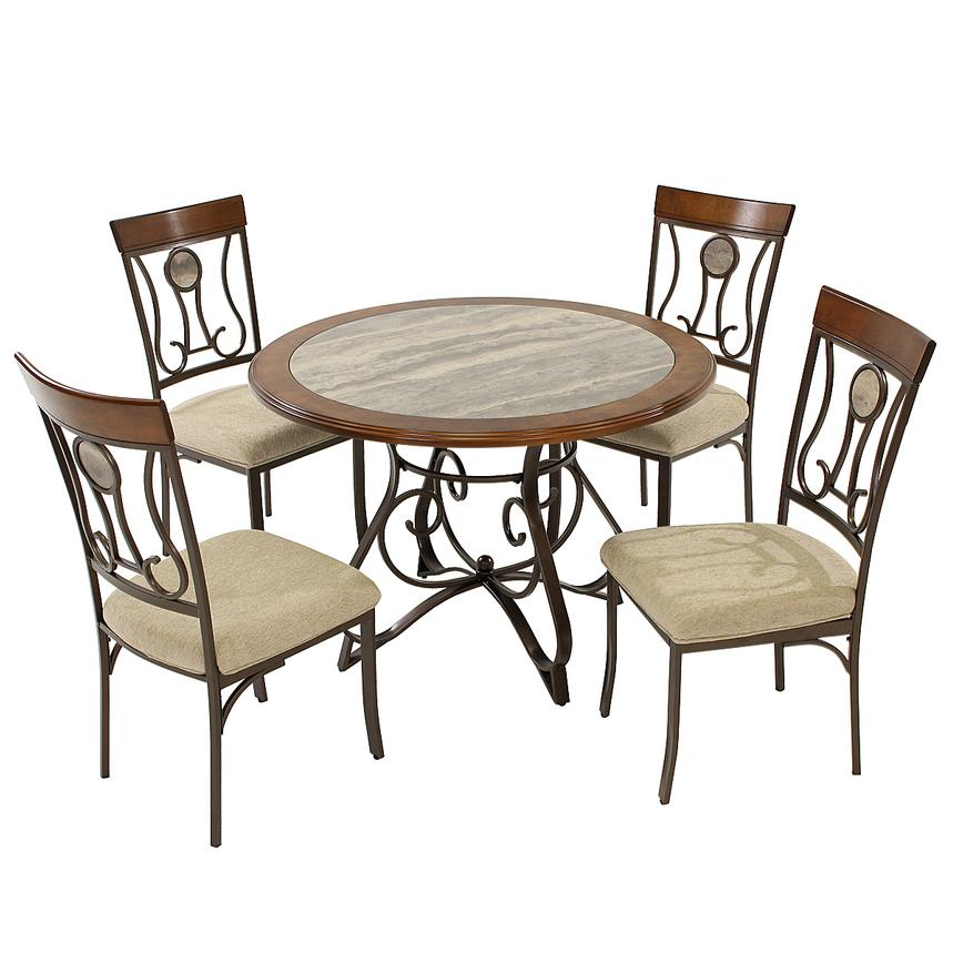 Captivating Hopstand 5 Piece Casual Dining Set Main Image, 1 Of 10 Images.