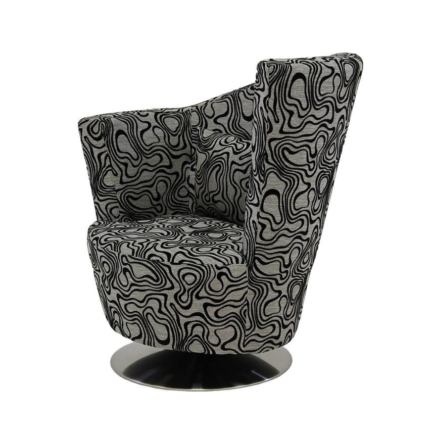 Bon Sasha Swirl Swivel Accent Chair Main Image, 1 Of 7 Images.