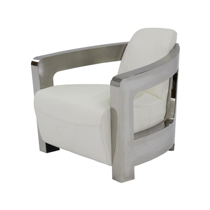 Delicieux Aviator White Leather Accent Chair Main Image, 1 Of 6 Images.