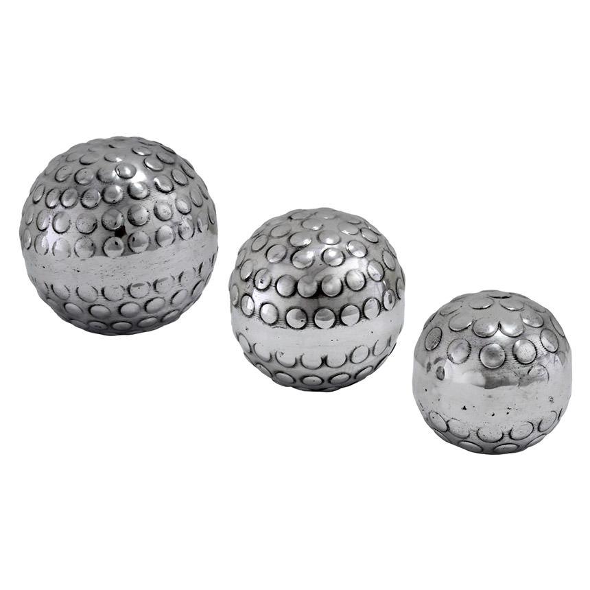 Black And Silver Decorative Balls Mesmerizing Trang Set Of 3 Decorative Balls  El Dorado Furniture Decorating Inspiration