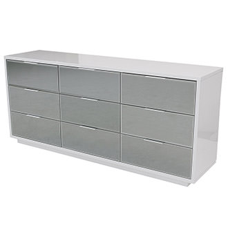 Mera White Mirrored Dresser