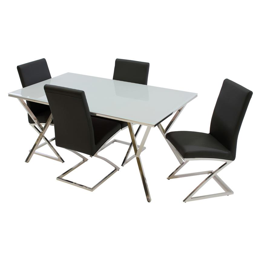 Jade Black 5-Piece Casual Dining Set  main image, 1 of 11 images.
