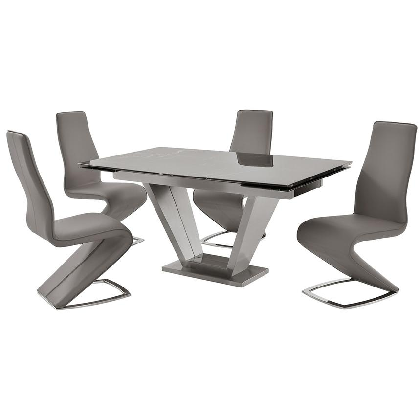 Jessy/Tegan Gray 5-Piece Formal Dining Set  main image, 1 of 13 images.