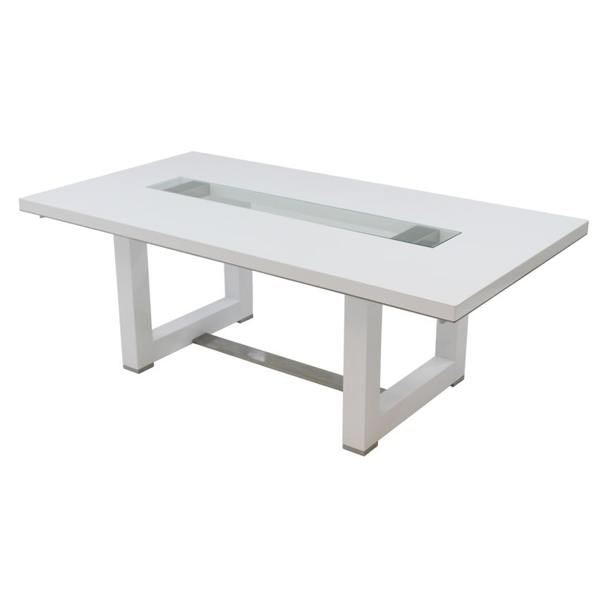Novo White Extendable Dining Table Main Image 1 Of 6 Images