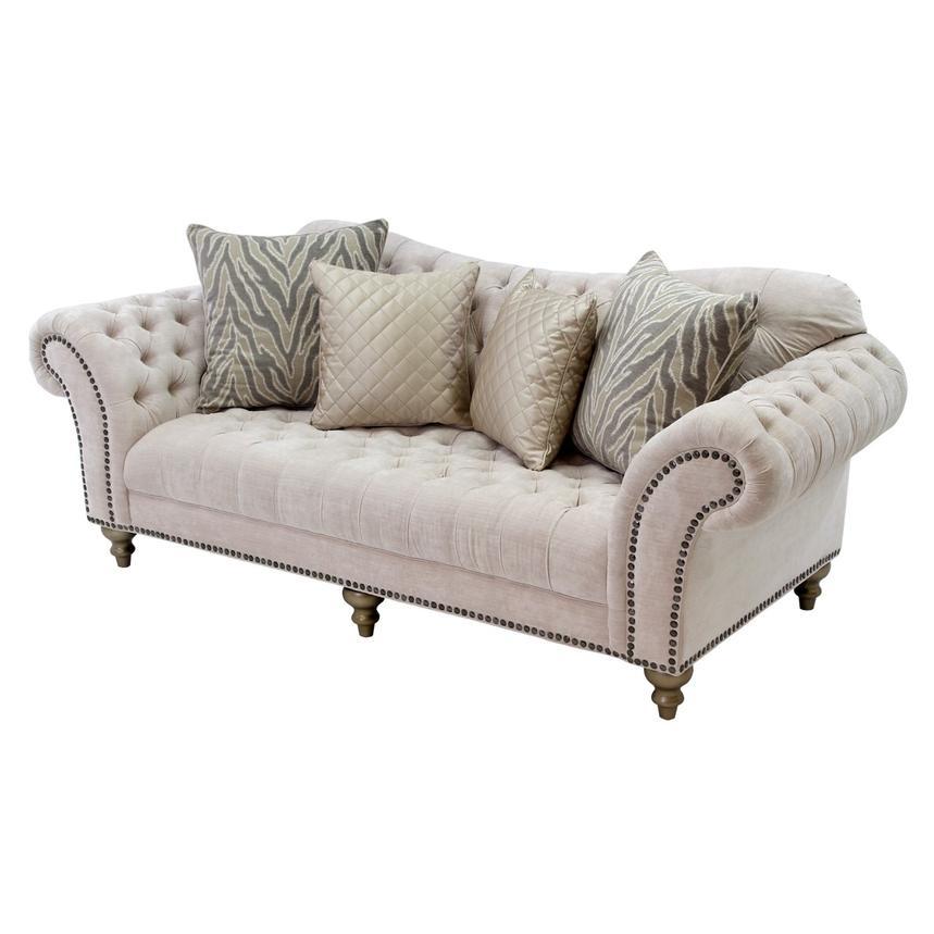 Merveilleux Laura Cream Sofa Main Image, 1 Of 8 Images.