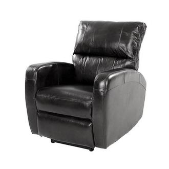 Keegan Black Power Motion Leather Recliner