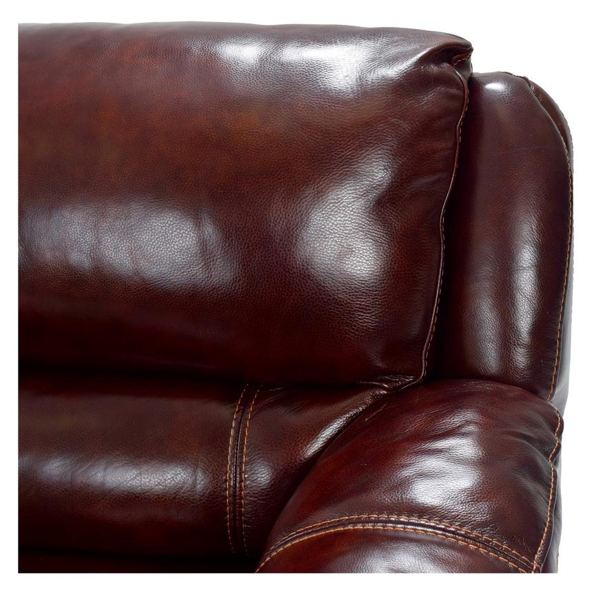 Theodore Burgundy Power Motion Leather Sofa w/Right Chaise  alternate image, 5 of 9 images.