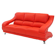 Jedda Red Leather Sofa  main image, 1 of 5 images.