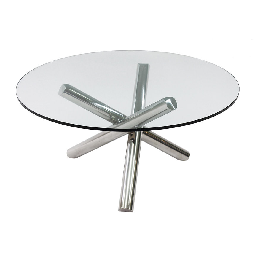 Gotham Clear Round Dining Table  main image, 1 of 4 images.