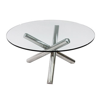 Gotham Clear Round Dining Table