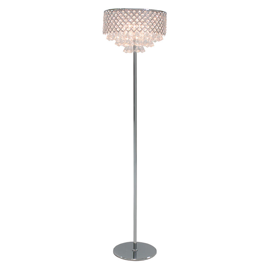 Crystals floor lamp el dorado furniture crystals floor lamp main image 1 of 5 images aloadofball Images