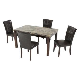 Achillea Brown 5-Piece Casual Dining Set