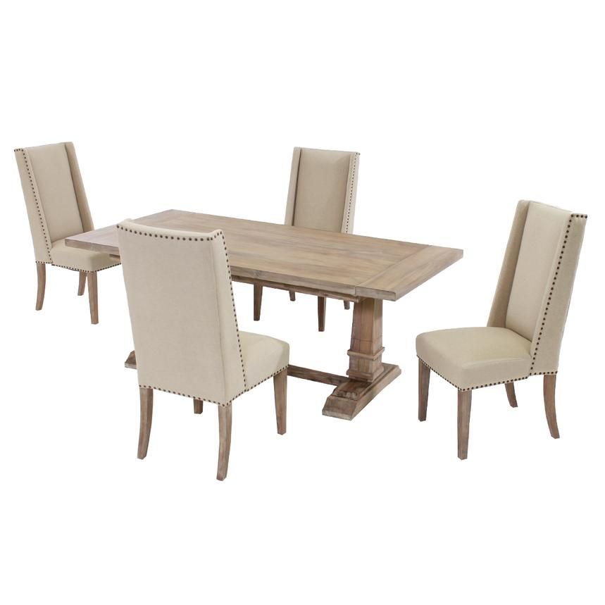 Hudson Cream 5-Piece Formal Dining Set  main image, 1 of 13 images.