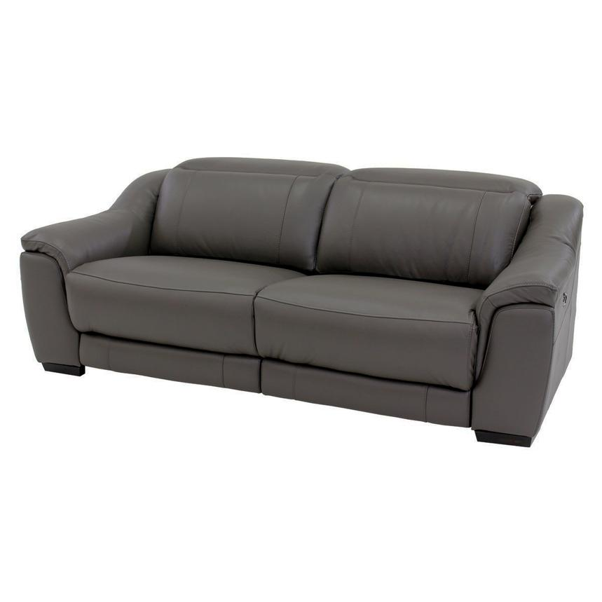 Davis Gray Power Motion Leather Sofa  main image, 1 of 10 images.
