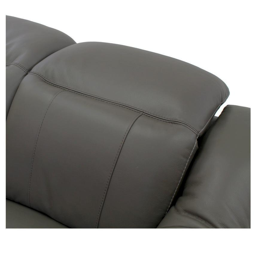 Davis Gray Power Motion Leather Loveseat  alternate image, 5 of 9 images.