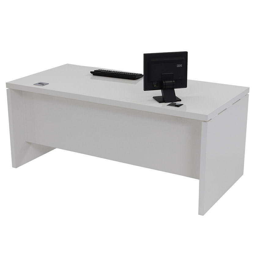white boss desk table simple furniture set office executive detail product modern